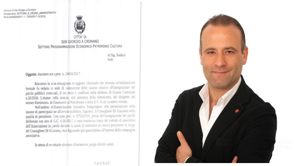 AFFIDAMENTI E POLEMICHE A San Giorgio il presidente dell'associazione assrgnataria del parco era l'ex leader dell'opposizione Ciro Di Giscomo che oggi sostiene la maggioranza