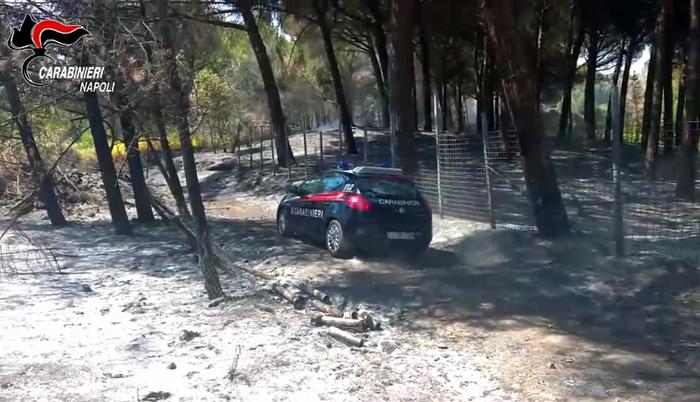 I Carabinier iarrestano uno dei piromani del Vesuvio: è un 24 enne con precedenti di Torre del Greco