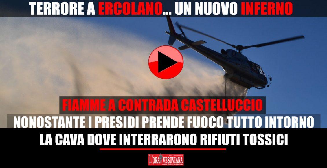 (VIDEO) Fiamme a contrada Castelluccio. Nonostante i presidi di sicurezza prende fuoco tutto intorno alla Cava dove sono stati interrati, in passato, rifiuti tossici