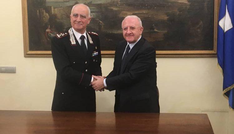 Contro la Terra dei Fuochi firmato protocollo tr il governatore De Luca e il Generale dei carabinieri Del Sette