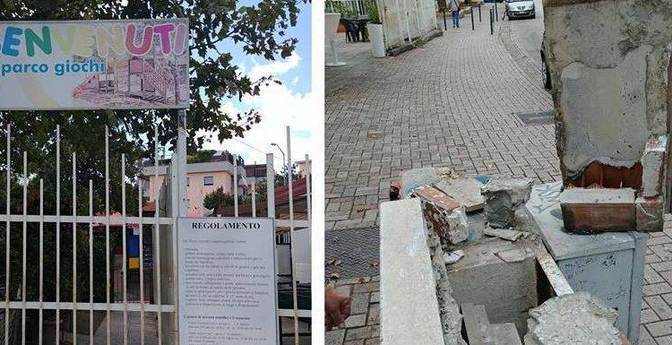 CERCOLA – Mamme e commercianti sul piede di guerra per lo stato di abbandono in cui versano le giostrine