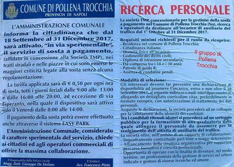 Al via tra le polemiche coi commercianti la sosta a pagamento a Pollena Trocchia