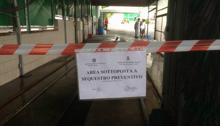 Ercolano, sequestro penale e 11mila euro di multa per un autolavaggio fuorilegge