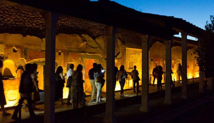 Scavi Ercolano, ultime visite by night  29 settembre e 6 ottobre terminano le visite serali
