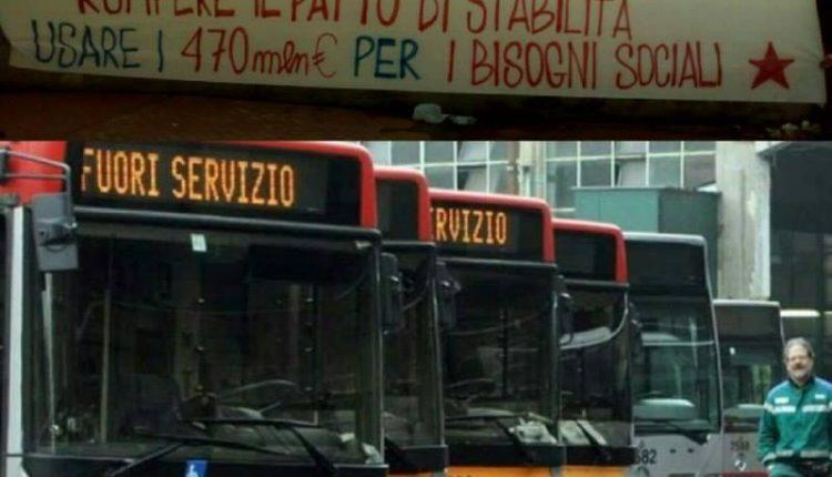 """Napoli: """"salviamo e rilanciamo l'ANM"""" è il titolo della manifestazione in piazza Municipio"""
