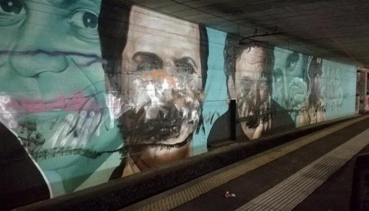 L'ATTACCO ALLA STREET ART – Imbrattati i murales nelle stazioni di San Giorgio, San Giovanni e Piazza Garibaldi