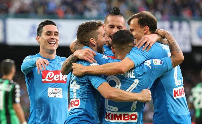 Il Napoli vince e torna solo in vetta:Sassuolo ko 3-1 al San Paolo