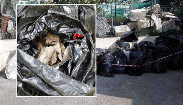 Ercolano – 250 mq di terreno sequestrati dai Carabinieri. Trovati rifiuti pericolosi