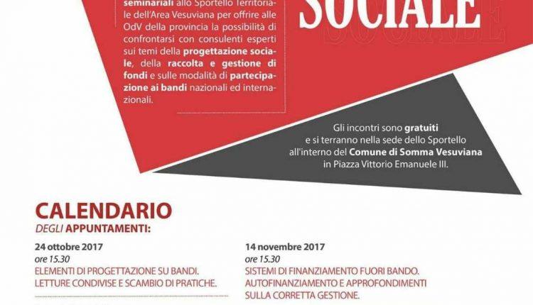 """Somma Vesuviana- Partono i laboratori di progettazione sociale, il sindaco Di Sarno: """"L'unione fa la forza"""" ,il presidente del Csv Caprio: """"Crediamo negli sportelli territoriali"""""""