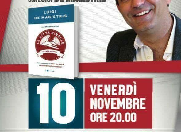 """SINDACI A CONFRONTO – Vincenzo Fiengo, al Teatro Platani di Cercola, ospita la presentazione del libro di Luigi de Magistris """"La città ribelle"""""""