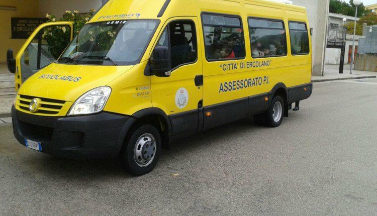 Al via il trasporto scolastico a Ercolano, le famiglie risparmieranno fino al 70%