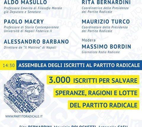 Stati Uniti di Europa – Dibattito a Napoli organizzato dal Partito Radicale
