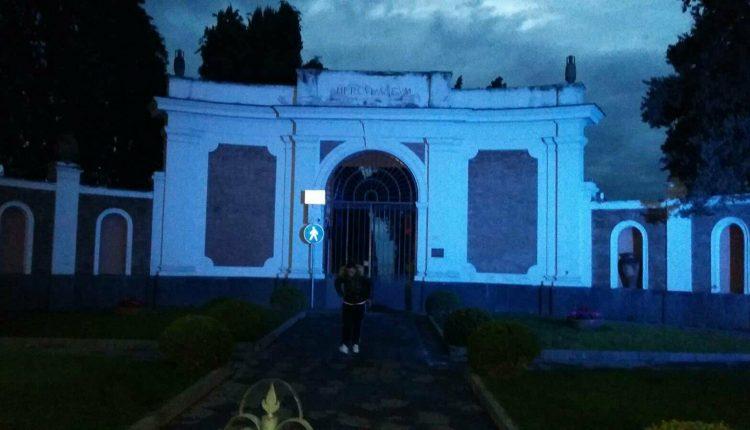 Gli Scavi di Ercolano si illuminano di Blu in occasione della Giornata Internazionale per la lotta al Diabete