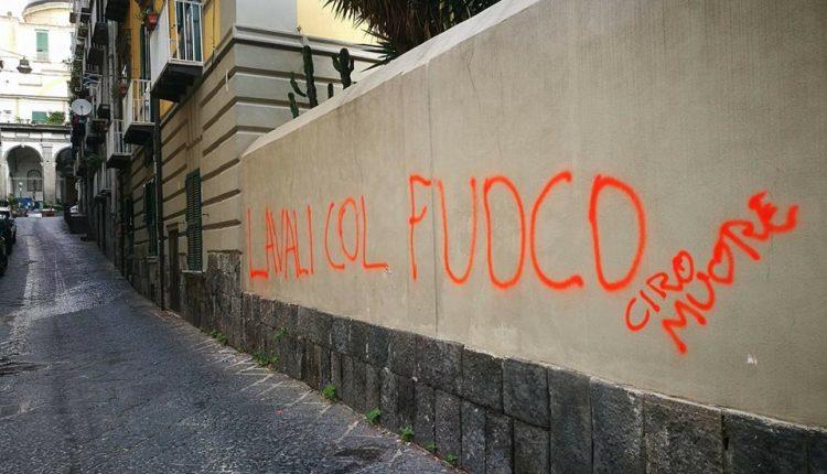 L'ennesimo insulto a Napoli: imbrattati muri e infangato il nome di Ciro Esposito