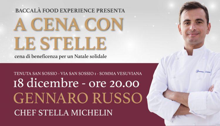 Somma Vesuviana: la cena solidale organizzata da Baccalà Food Experience riporta a Somma la grande cucina di Gennaro Russo
