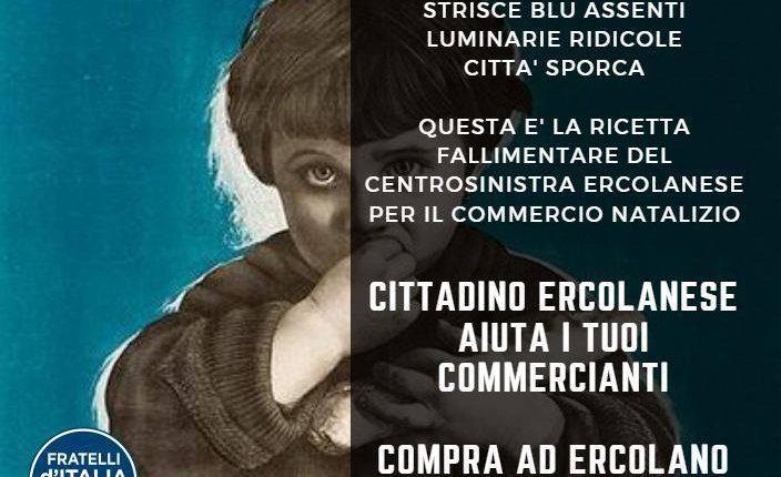 """Ercolano – Fratelli d'Italia lancia la campagna """"Compra ad Ercolano"""""""