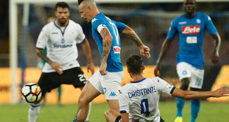 Il Napoli soffre e perde, l'Atalanta passa il turno in Coppa