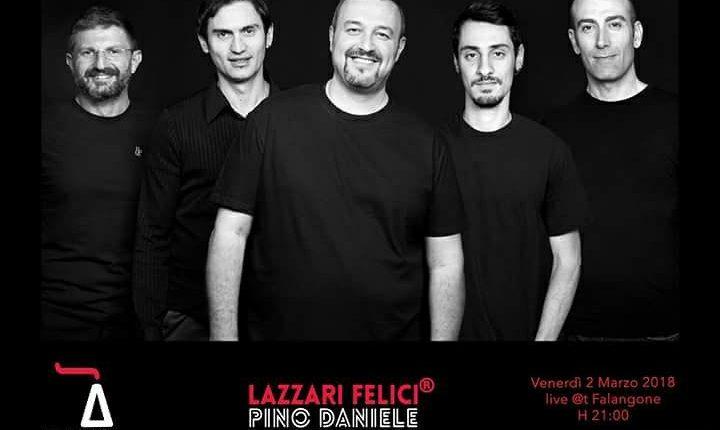 Al Falangone di San Giuseppe Vesuviano, il ritmo dei Lazzari Felici per il  Pino Daniele Tribute