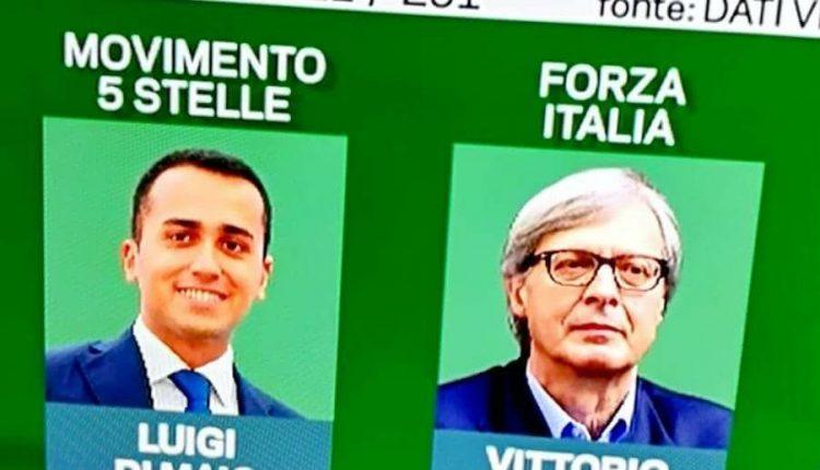 """Povero Vittorio.  Sgarbi battuto da Di Maio a Pomigliano non l'ha presa bene: """"Lo prendete in c… Acerra collegio di disperati"""""""