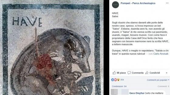 """Scavi di Pompei, su Facebook i graffiti """"tradotti"""" in napoletano da Carlo Avvisati"""