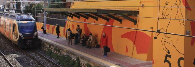 LA STAZIONE PORTICI-BELLAVISTA – Domani inaugurazione del restyling della stazione Circum col murales di Mattia Campo dell'Orto