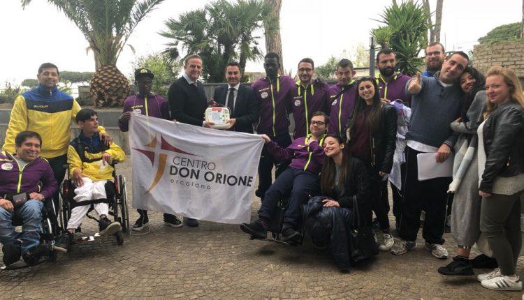 """Centro Don Orione, A Ercolano fa tappa il progetto """"Territorio Cardio-Protetto"""" con l'On. Longobardi"""