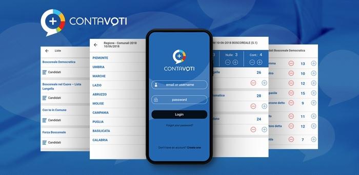 Ecco l'App 'Contavoti' con i risultati in tempo reale. L'applicazione messa a punto da esperti start up Obits