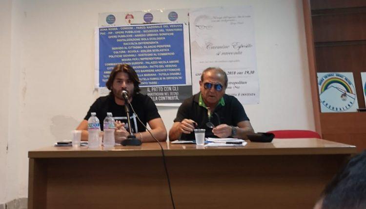 """A Sant'Anastasia Carmine Esposito e Ciro Pavone annunciano la loro candidatura alle prossime elezioni. """"Sant'Anastasia merita dignità, alle prossime elezioni mi ricandido a sindaco"""""""