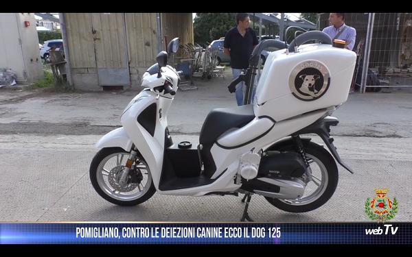 A Pomigliano d'Arco è arrivato Dog 125, il motorino ibrido che aspira le deiezioni canine
