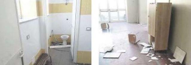 Vandali a scuola a Ercolano:devastata la nuova palestra