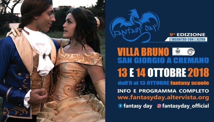 """San Giorgio a Cremano capitale del Fantasy:dDall'8 al 14 ottobre decine di eventi in Villa Bruno  sul tema: """"L'incontro con l'altro"""""""