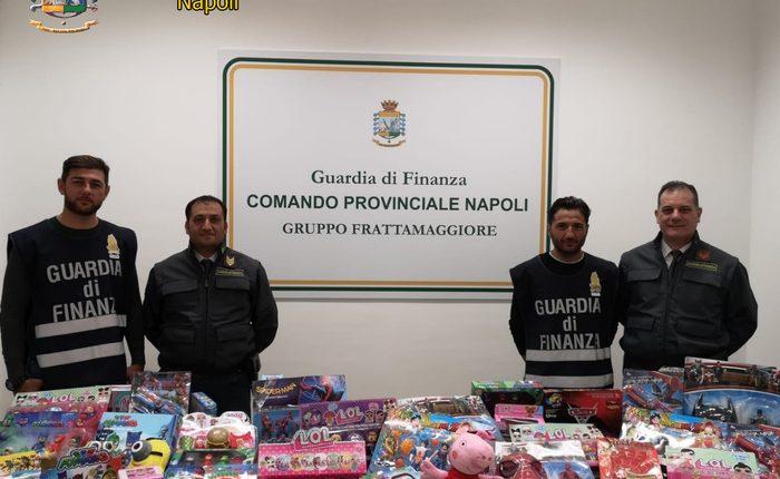 25mln giocattoli sequestrati a Napoli: sigilli della Guardai di Finanzaa locale di 650 mq gestito da un cinese