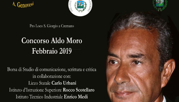 """""""Aldo Moro il professore"""":Borsa di Studio per gli studenti delle scuole di San Giorgio a Cremano.Incontro col giornalista Rai Giorgio Balzoni"""