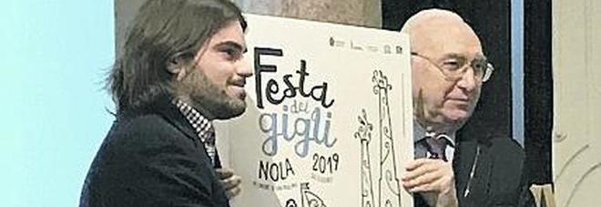 Nola, Pippo Baudo padrino dei Gigli 2019 svela il bozzetto del manifesto ufficiale