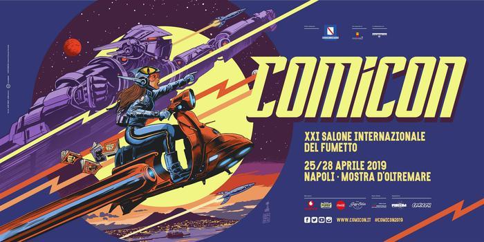 Francesco Francavilla disegna il manifesto Comicon 2019 che si terrà dal 25 al 28 aprile