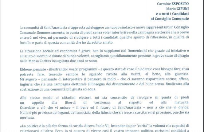 IL VOTO A SANT'ANASTASIA – La lettera del Priore del Santuario di Madonna dell'Arco ai quattro candidati a sindaco e i commenti della gente: tra benpensanti e non