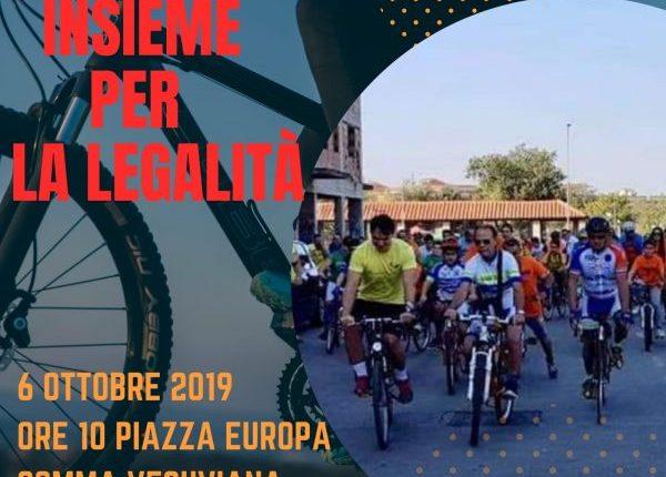 BICICLIAMO INSIEME –  A Somma Veuviana pedalando per la legalità, il 6 ottobre in giro in bici per la città