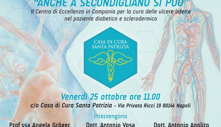 """""""Anche a Secondigliano si può!"""", Presentazione Centro di Eccellenza in Campania per la Cura delle ulcere infette nel paziente dabetico e sclerodermico"""
