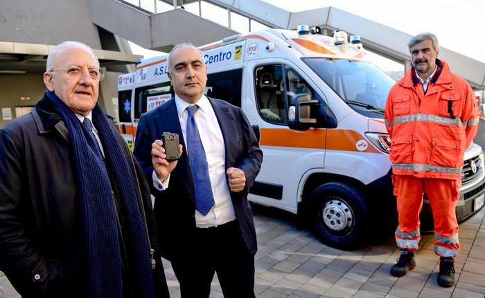 Da oggi ambulanze con telecamere,presentata anche la bodycam per gli operatori del pronto soccorso
