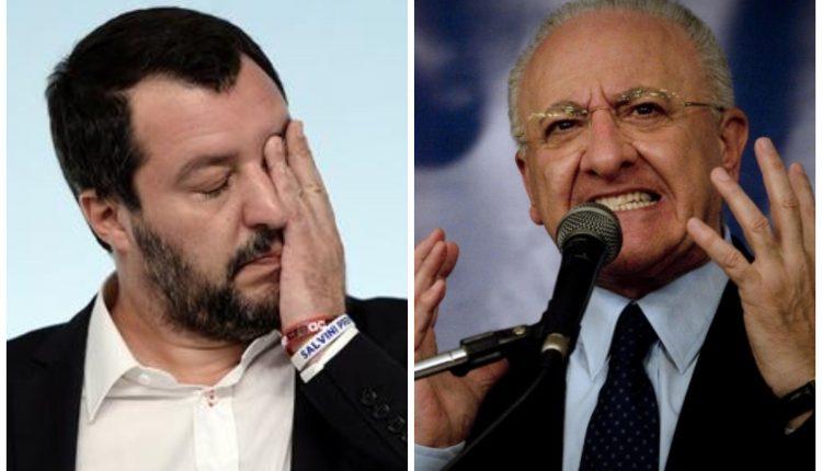 """Salvini spara sulla Campania, il Governatore De Luca rispedisce le accuse al mittente: Caro on. Matteo Salvini, le chiacchiere stanno a zero. Venga a fare un confronto pubblico con me"""""""