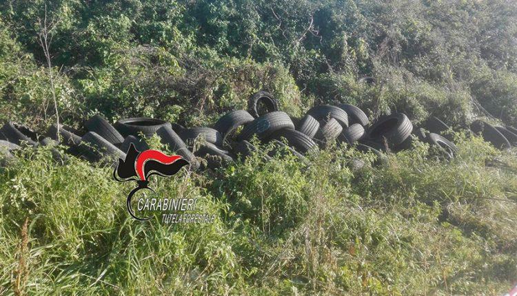 Pomigliano, 200 pneumatici in aperta campagna: denunciato titolare di un'officina