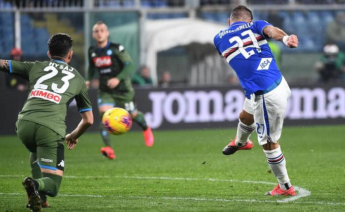 Serie A, Sampdoria-Napoli 2-4:Partenopei avanti 2-0 si fanno raggiungere poi dilagano