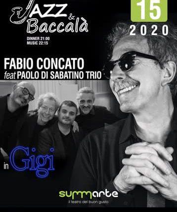"""""""Gigi""""Fabio Concato e Paolo Di Sabatino Trio al Teatro Summarte"""