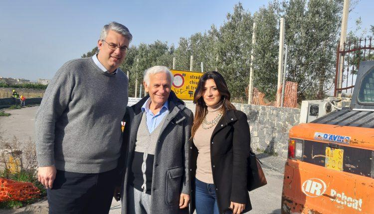 """A San Giorgio a Cremano: Via Cupa Mare, ripartono i lavori, il sindacoZinno: """"Dopo 10 anni restituiamo alla cittàun' arteria fondamentale per il territorio"""""""