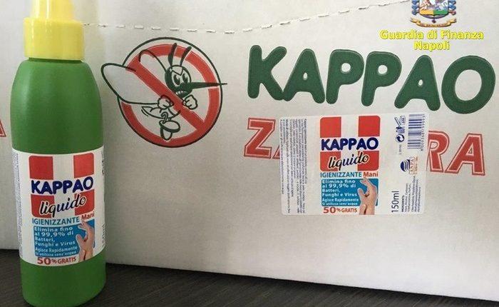 Sequestrato igienizzante non autorizzato:durante controlli GdF nel Napoletano, due denunciati