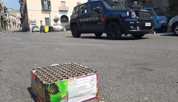 A Ercolano, festeggia la Pasqua con fuochi d'artificio: 32enne sanzionato dai Carabinieri