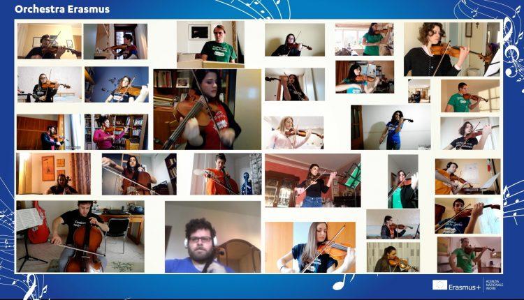 """Europa: Orchestra Erasmus esegue concerto """"a distanza"""": """"Uniti da musica e valori, gli studenti danno un messaggio di speranza''"""