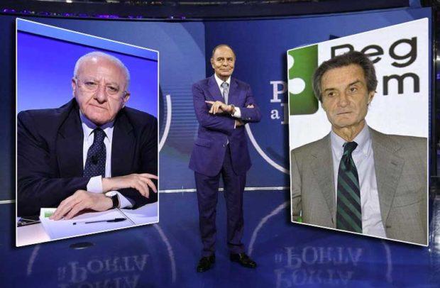 """Emergenza Coronavirus, De Luca a Fontana: """"E' una malattia terribile. Chi va da Milano a Napoli deve essere bloccato"""" ma chi si aspettava il duello è rimasto deluso. """"Assieme per l'Italia"""""""