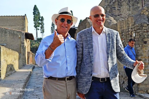 Ercolano, successo online del Parco archeologico: soddisfatto il direttore Francesco Sirano