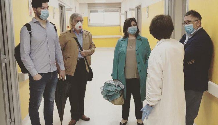 """Una delegazione del Partito Democratico all'Ospedale Apicella. Antonella Ciaramella: """"Potenziare gli ambulatori e riattivare il pronto soccorso"""""""
